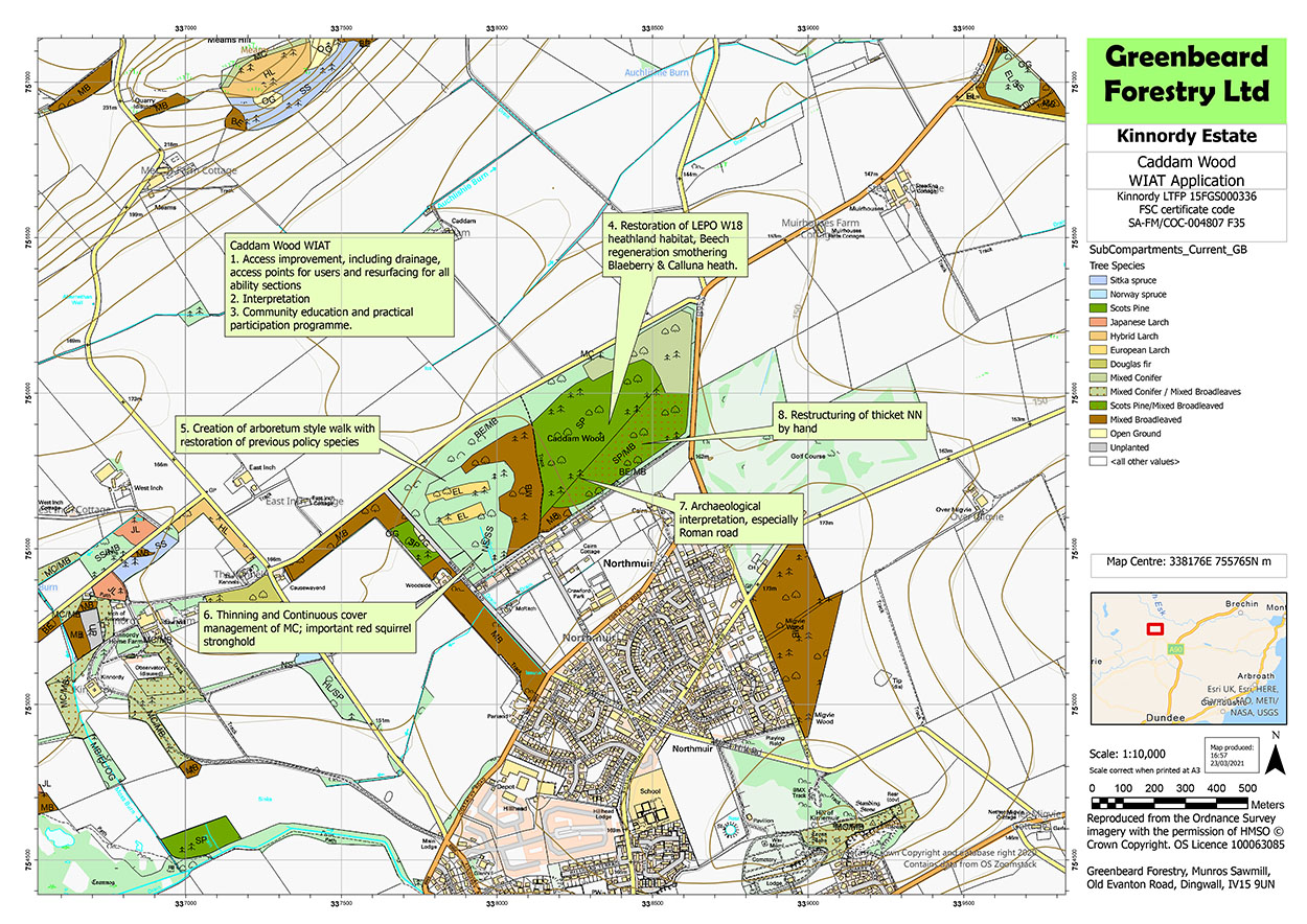 Caddam Wood Development Map