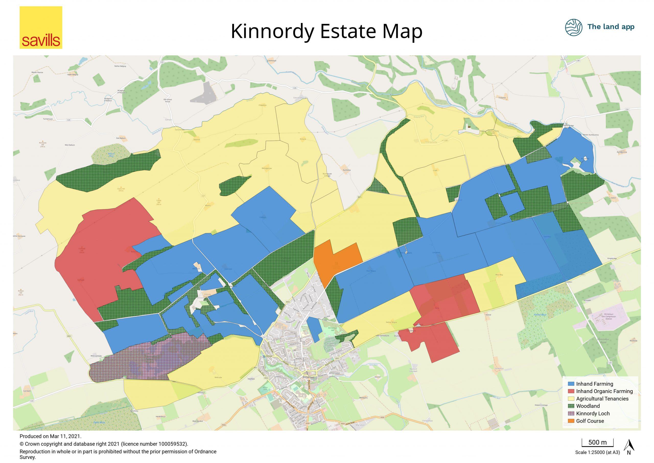 Kinnordy Estate Map